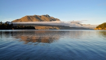 Early morning autumn on the banks of Lake Wakatipu Queenstown New Zealand First post here