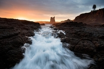 Early morning glow at Kiama NSW