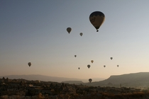 Early morning in Cappadocia Turkey