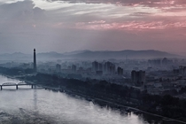 Early morning in Pyongyang North Korea