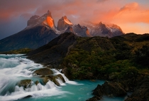 Early morning light on the Horns of Torres del Paine National Park in Chile  by Ian Plant