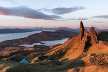 Early morning sunrise at The Old Man of Storr Scotland