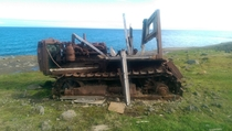 Early s Cat D-R on St Lawrence Island Alaska badly deteriorated in the salt air