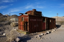 Early s Union Pacific Car Abandoned in Rhyolite Ghost Town - more photos in comments  OC