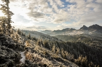 Early signs of winter in Ciuca Mountains in Romania
