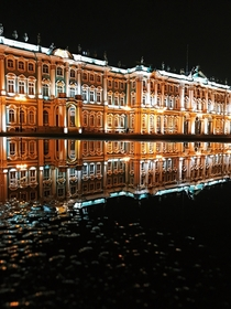 early springs in Winter Palace Saint-Petersburg
