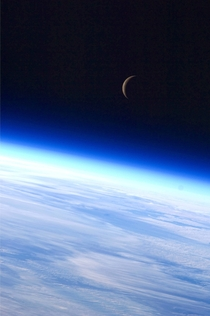 Earth and Moon by Expedition  crew member xpost rall