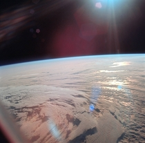 Earth as seen from the Apollo  spaceflight