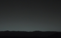Earth as seen from the surface of Mars Photo taken by the Curiosity Rover