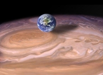 Earth besides Jupiters Great Red Spot