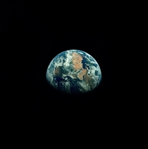 Earth from Apollo  photographed by Astronaut Michael Collins