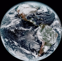Earth from NOAAs GOES- Satellite