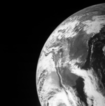 Earth photographed by the Juno spacecraft
