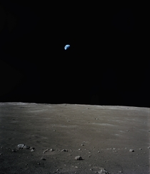 Earth photographed from the surface of the Moon by Apollo  Astronaut Jack Schmitt