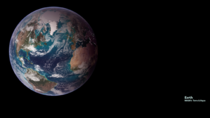Earth Zoom Background with an updated blue marble using images captured by NASA satellites