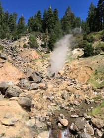 EarthPorn that may be a little hotter than youre used to Terminal Geyser and the scalding Willow Creek Lassen National Park