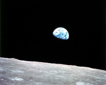 Earthrise by astronaut William Anders Earth seen from the Moon during Apollo  link to article about the taking of the picture in comments