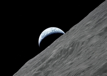 Earthrise taken by the crew of Apollo  the last manned mission to the Moon December