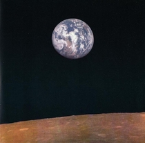 Earthrise taken by the Soviet Zond  probe in August