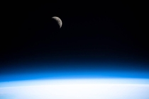 Earths brother the moon taken by the ISS crew