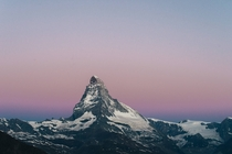 Earths Shadow behind the Matterhorn Switzerland