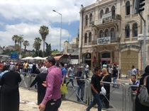 East Jerusalem street scene after a clash
