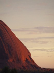 Eastern end of Uluru Ayers Rock NT Australia