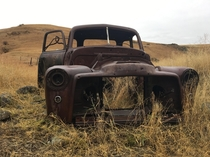 Eastern Oregon Pickup Truck in the Tall Grass
