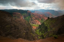 Easy to see why this place is known as the Grand Canyon of the Pacific Waimea Canyon Kauai HI