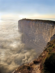 Edge of the Earth in Beachy Head England Photographer unknown