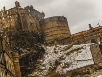 Edinburgh Castle during some mild February Snows