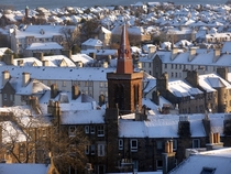 Edinburgh in the snow this morning - by utubbytucker x-post rBritPics