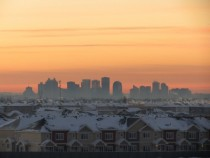 Edmonton Alberta cityscape this morning