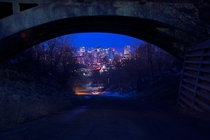 Edmonton Alberta from Under a Bridge  xpost from redmonton