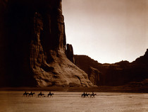 Edward Curtiss picture of the Canyon de Chelly in Arizona taken in  Home to the Navajo for  years and occupied for over  years
