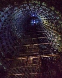 Eerie mine shaft in Kiev