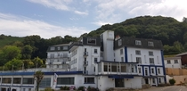 Eery and dated ex- hotel in Boule Bay Jersey
