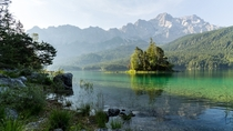 Eibsee with Zugspitze Germany