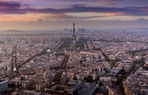 Eiffel Tower from Montparnasse  by Ralph Sobanski x-post rFrancePics