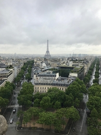 Eiffel Tower from the top of lArc de Triomphe June