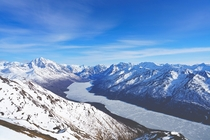 Eklutna Lake from Pepper Peak Alaska