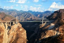 El Baluarte bridge in the heart of Mexicos Sierra Madre Worlds highest suspension bridge