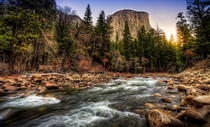 El Capitan amp The Merced River Yosemite National Park CA