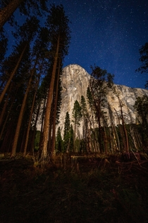 El Capitan basking in the moonlight