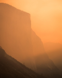 El Capitan Shrouded in Wildfire Smoke Yosemite NP  IG adamweist