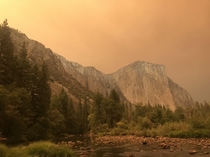 El Capitan Yosemite CA  The day the Creek Fires began