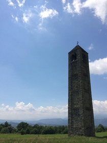 El Ciucaron The medieval tower bell only remain of the San Martins church and the village of Paerno north-western Italy