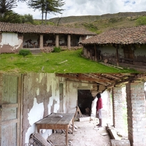 el Fundo Libertad in Marcas Huancavelica the home belonged to my second great aunt Iris and her husband Jess It was adjudicated during the Agrarian Reform in  and partially set on fire in  by Shining Path insurgents My father took these in