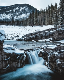 Elbow Falls in Kananaskis Country Alberta