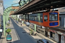 Electric Elevated Railway Suspension Railway Installation Wuppertal Germany
